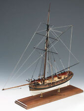 """Amati Lady Nelson 22"""" Wooden Cutter Ship Model Kit Victory Series 19th Century"""
