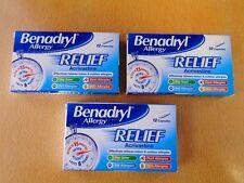 Benadryl Allergy Relief Acrivastine - 12 Capsules x 3