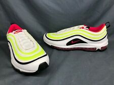 Nike Men's Air Max 97 Running Sneakers White Pink Volt Size 11 DISPLAY MODEL