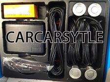 SILVER parcheggio retromarcia 4 sensori posteriori KIT displayer LED PARK ASSIST RETROMARCIA CICALINO ALLARME UK