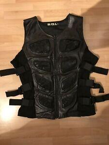 Goth Weste, Größe XL, Gothic, Metall, Metal, schwarz, Cyber, S.D.L., Electro