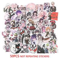 50PCS Anime Danganronpa PVC Sticker for Luggage Laptop Skateboard Waterpr EW