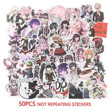 50PCS Anime Danganronpa PVC Sticker for Luggage Laptop Skateboard WaterpLO