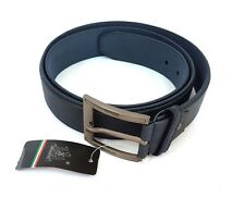 Cinta Cintura Uomo Pelle Blu A-514 Elegante Glamour Fashion Alla Moda hac