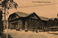 Amish Colony Forestry Building Portland, Oregon Antique RPPC Photo Postcard