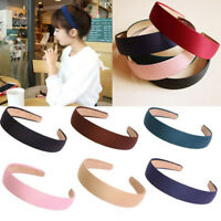 Girls Headwear Headband Women Pure Color Hair Band Plastic Cloth Hair Hoop