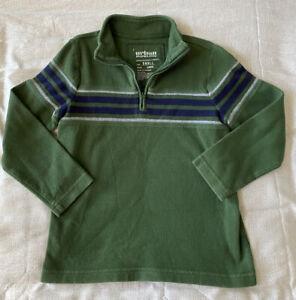 Boys URBINE PIPELINE 1/4 Zip Green Sweater w/Navy/White Stripes Size Youth Small