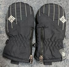 Infant Columbia Mittens - One Size - Black With Gray Trim