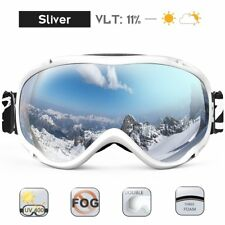 Anti-fog and 100% UV Protection Ski Snowboard Snow Goggles for Men Woman