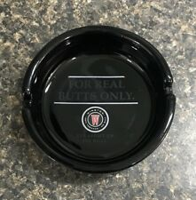 Vintage Winston No Bull For Real Butts Only Black Ceramic Ashtray