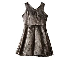 New Marciano Kids Metallic Woven Holiday Dress Gold Girls Sz Md 10 -12 kids