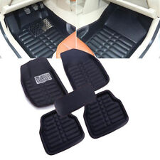 5Pcs Universal Car Floor Mats FloorLiner Front&Rear Carpet All Weather Mat Black