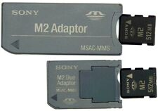 Genuine SONY 512MB Memory Flash Card with MSAC-MMS Reader & Pro Duo Adapter