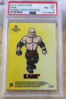 Kane 2010 Topps Wwe Graded 8 Rumble Pack Sticker Card #28