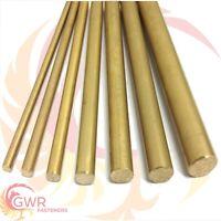 """Brass Round Bar Rod CZ121 - 1/4 3/8 1/2 5/8 3/4 Inch Imperial """""""