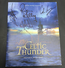 CELTIC THUNDER SIGNED AUTOGRAPHED 2012 Concert Tour Program