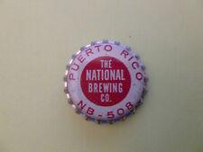 One vintage unused National Brewing Co. Puerto Rico cork-lined beer bottle cap.