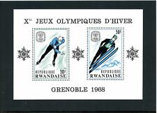 LOT 73119  AFRICA RWANDA MINT H SCOTT # 249 1968 OLYMPICS SKING