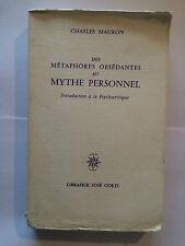 METAPHORES OBSEDANTES AU MYTHE PERSONNEL INTRODUCTION PSYCHOCRITIQUE 1976 MAURON