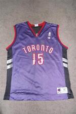 VINCE CARTER 15 Toronto Raptors Jersey NBA Champion Adult 40 Purple Red Used