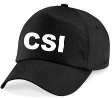 CSI Printed Baseball Cap - Black Hat Fancy Dress Costume Outfit Novelty Police