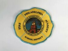 Vintage Philadelphia Fire Academy School Sew Iron On Embroidered Patch