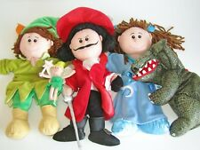 5x Tellatale Puppets ~ Peter Pan ~ Captain Hook ~ TinkerBell ~ Wendy ~ Crocodile