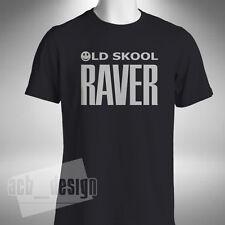 OLD SKOOL RAVER Mens T SHIRT Clubbing Dj Rave Retro Dance Festival Acid House