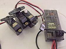 Futaba MCR-4A RECEIVER FET LINEAR Amp & 3 Futaba FP-S133 Micro Servos Mini
