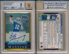 Eli Manning 2004 Giants Bowman Chrome Gold Refractors Autograph #225 BGS 9 x523