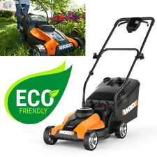 Electric Cordless Lawn Mower With Battery Charger Walk Behind Push Lightweight