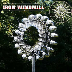 Metal Windmill Unique and Magical Sculptures Move Kinetic Lawn Wind Spinners