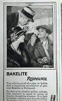 Vintage 1923 Bakelite Corporation Ad Redmanol Pipe Cigarette Holder original