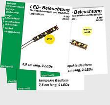 LED Hausbeleuchtung, Wagenbeleuchtung,  9 -24 Volt, H0, H0e, H0m , u.a.