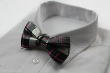 MENS COLOURFUL STRIPE BOW TIE SILK PRE-TIED MEN'S BOWTIE WEDDING FORMAL TIES