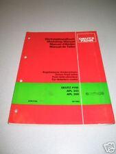 Deutz Fahr 4180 Front Axle Service / Workshop Manual