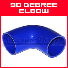 """Silicone 90 Degree Elbow Hose - 57mm (2.25"""") ID - Blue"""