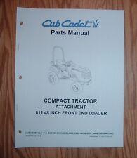 CUB CADET 6000 & 7000 SERIES 812 FRONT END LOADER PARTS MANUAL