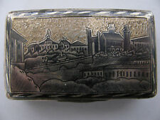 RUSSIAN ANTIQUE SILVER GILT NIELLO SNUFFBOX MOSCOW about 1840 masterpiece