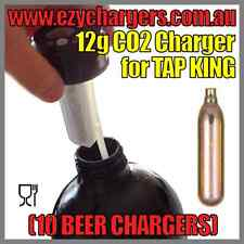 10 BEER CHARGERS 12G CARTRIDGE NON-THREADED TAP KING CARBON DIOXIDE BULBS CO2