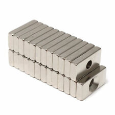 Super Strong Magnetic Block Magnets 20x10x4mm 4mm Hole Rare Earth Neodymium