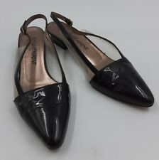 YVES SAINT LAURENT Ladies Vintage See-Thru Slingbacks Shoes Low-Heel ITALY 7.5N