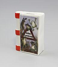 9988354 Porzellan Kämmer Spardose Sparbuch Krötenwanderung Frosch 10,5x15cm