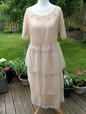 Vintage 1922 flapper era wedding dress with veil or wrap in original Liberty box