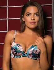 Gossard Japanese Rose 11601 Underwired Padded Plunge Push up Printed MOULDED Bra 38 C