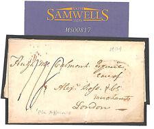 MS817 1804 SPAIN *Porto Affiance* Maritime Mail Entire Letter GB London Merchant
