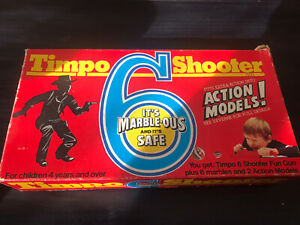 Rare Vintage Boxed Timpo 6 Shooter Game Un Used
