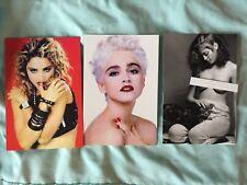 MADONNA LOT 3 postcards postcard set True Blue 1987, 1985, 1979 nude Healthy