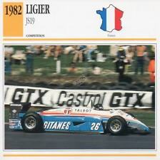 1982 LIGIER JS19 Racing Classic Car Photo/Info Maxi Card