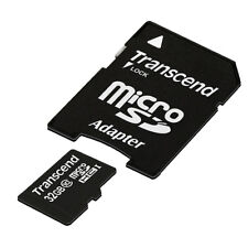 Transcend 32GB Class 10 Memory Card with Adapter MicroSDHC 30MB/s 32GBMICROSD